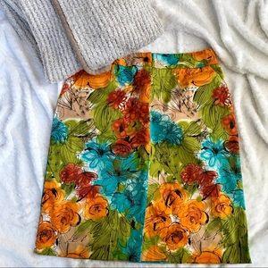 Harvé Benard floral skirt